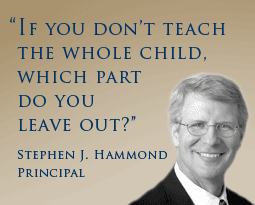 If you don't teach the whole child, which part do you leave out?